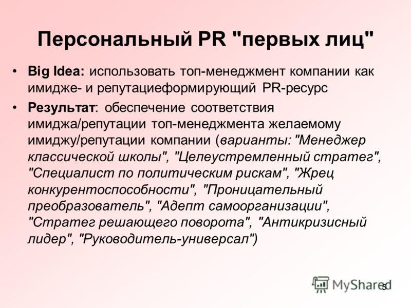 5 Персональный PR