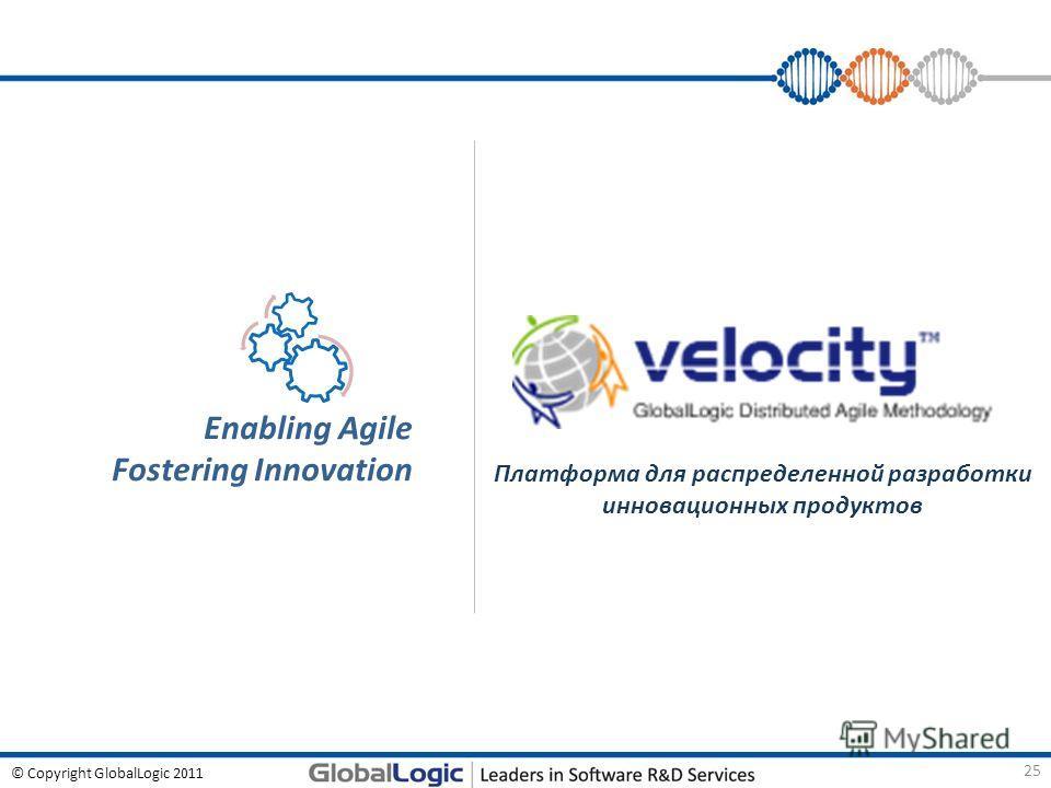 © Copyright GlobalLogic 2011 Платформа для распределенной разработки инновационных продуктов Enabling Agile Fostering Innovation 25