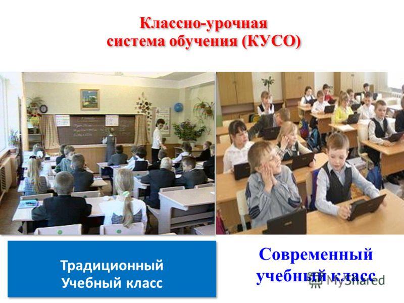 Классно-урочная система обучения (КУСО) Традиционный Учебный класс Традиционный Учебный класс Современный учебный класс