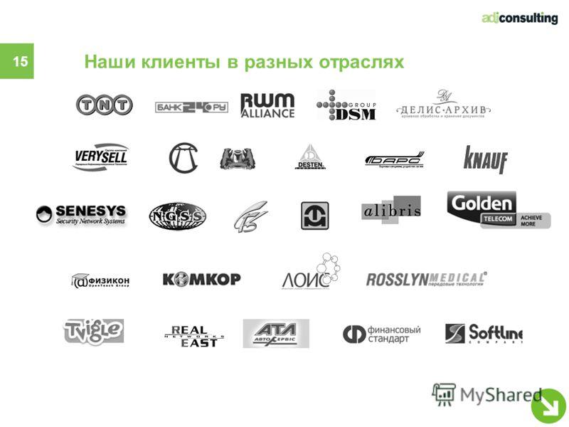 Наши клиенты в разных отраслях 15