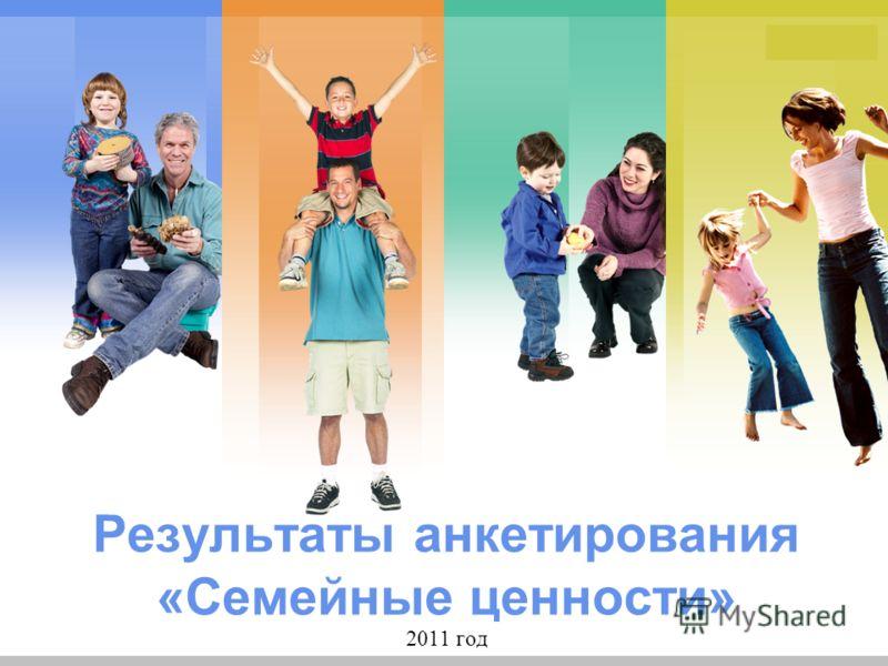 L/O/G/O Результаты анкетирования «Семейные ценности» 2011 год
