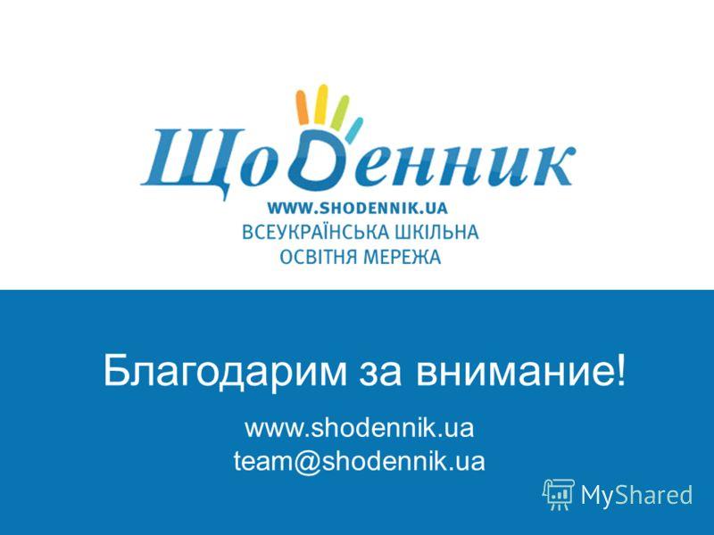 школьная социальная с www.shodennik.ua team@shodennik.ua Благодарим за внимание!