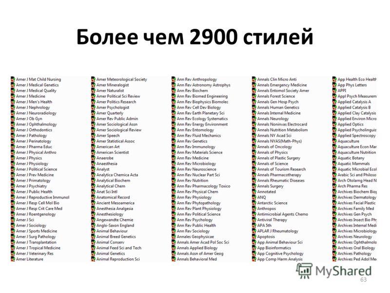 Более чем 2900 стилей 63