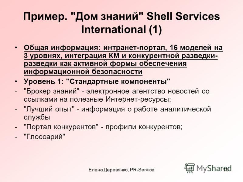 Елена Деревянко, PR-Service19 Пример.
