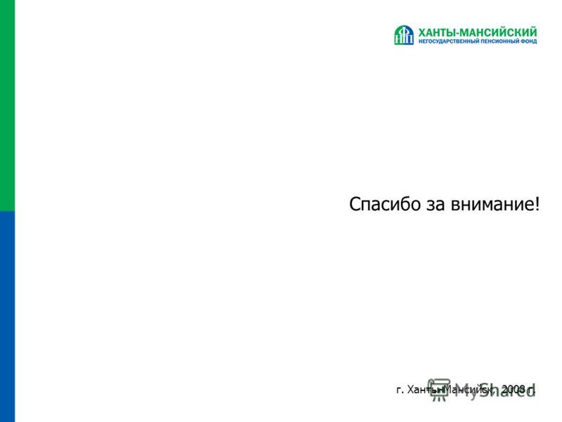 Спасибо за внимание! г. Ханты-Мансийск, 2008 г.