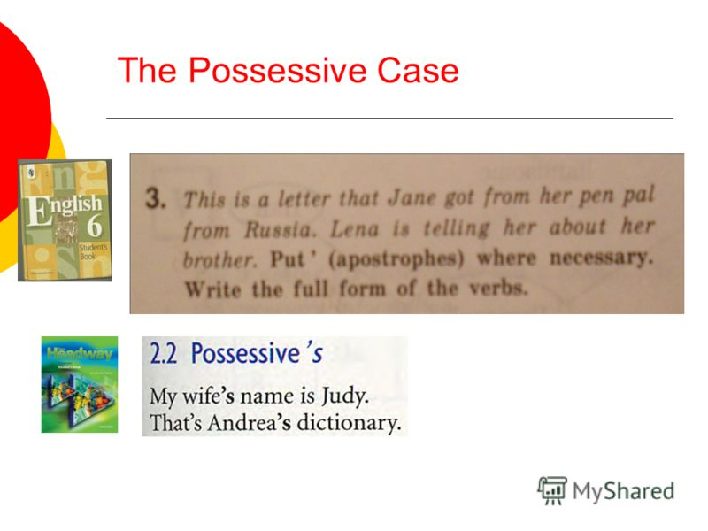 The Possessive Case