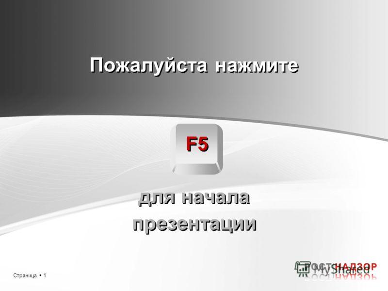Страница 1 Пожалуйста нажмите F5 для начала презентации