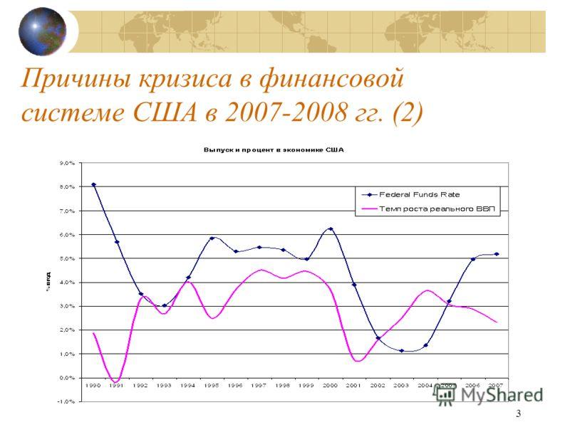 3 Причины кризиса в финансовой системе США в 2007-2008 гг. (2)