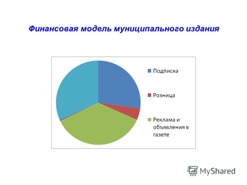 Финансовая модель муниципального издания