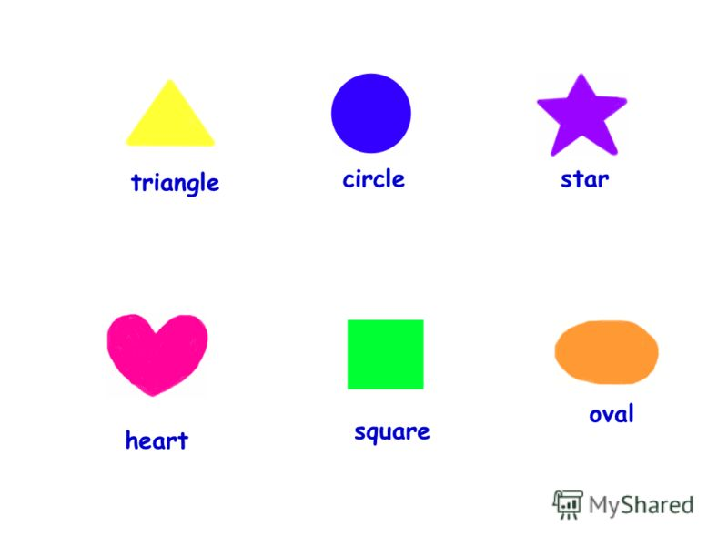 triangle circle star heart square oval
