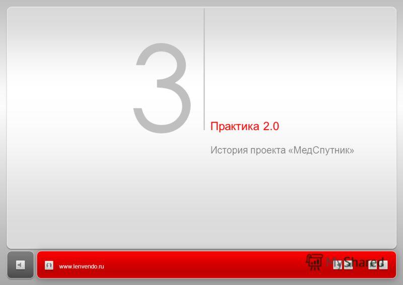 Заголовок Название раздела 3 Практика 2.0 История проекта «Мед Спутник» www.lenvendo.ru