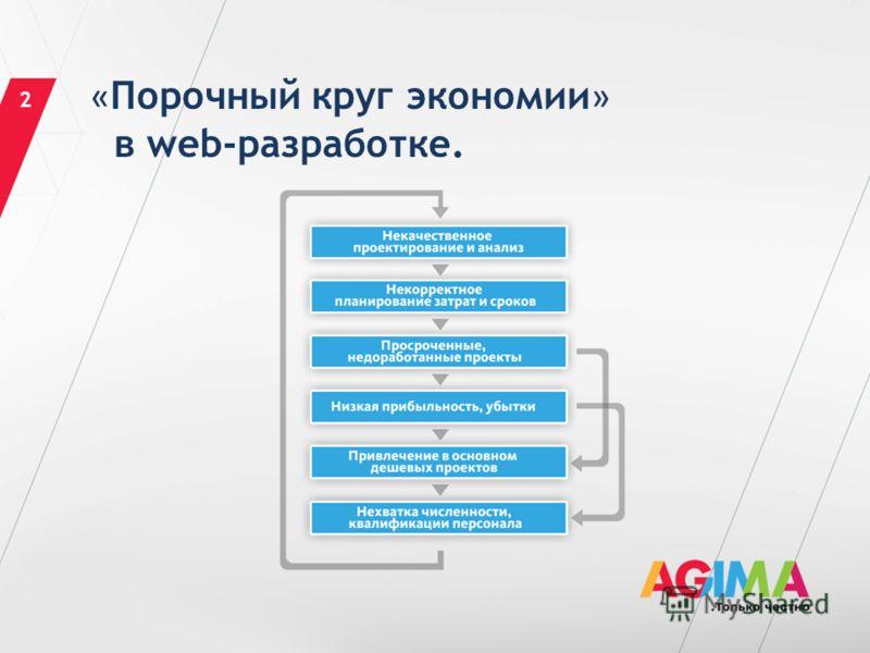 « Порочный круг экономии » в web-разработке. 2