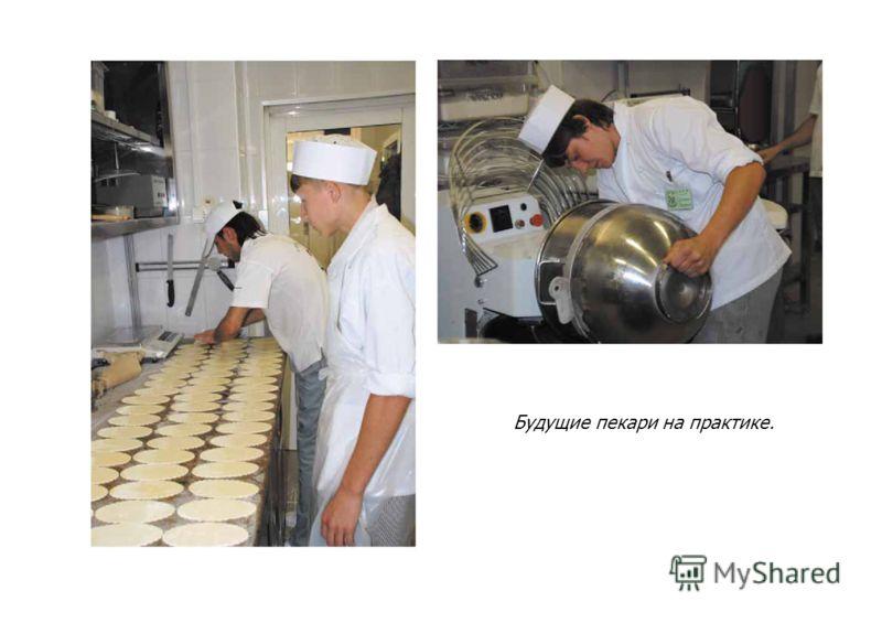Будущие пекари на практике.