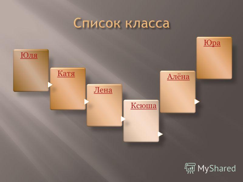 Юля Катя Лена Ксюша Алёна Юра
