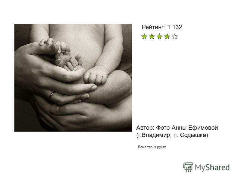 Автор: Фото Анны Ефимовой (г.Владимир, п. Содышка) Все в твоих руках Рейтинг: 1 132