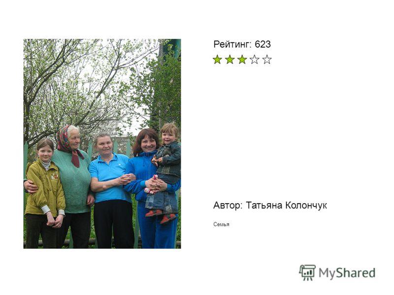 Автор: Татьяна Колончук Семья Рейтинг: 623