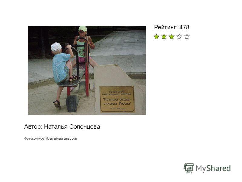 Автор: Наталья Солонцова Фотоконкурс «Семейный альбом» Рейтинг: 478