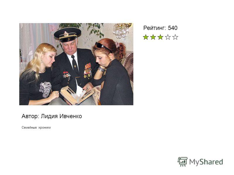 Автор: Лидия Ивченко Семейные хроники Рейтинг: 540
