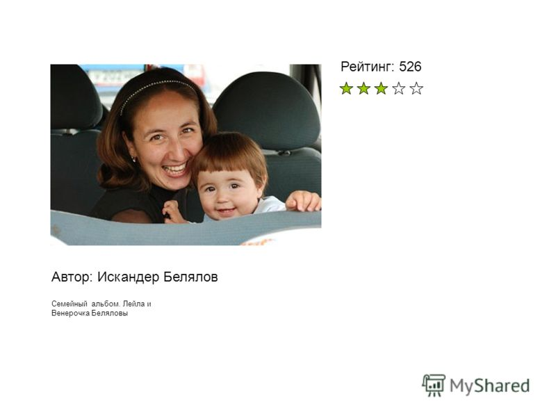 Автор: Искандер Белялов Семейный альбом. Лейла и Венерочка Беляловы Рейтинг: 526