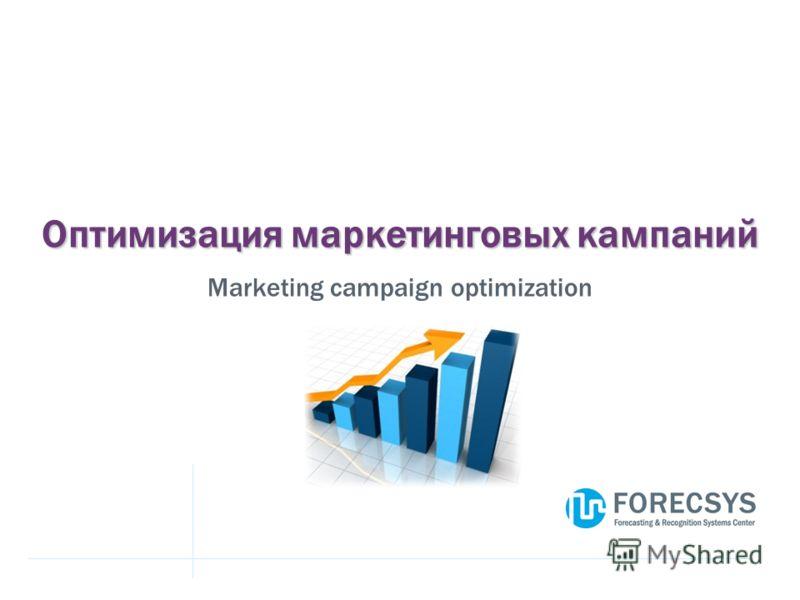 Оптимизация маркетинговых кампаний Marketing campaign optimization