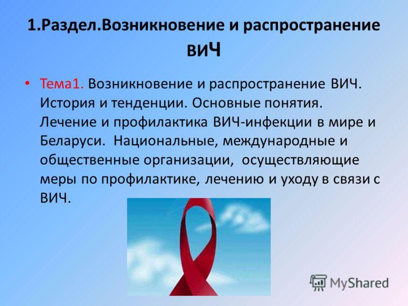 СПИД история возникновения распространение симптомы Справка