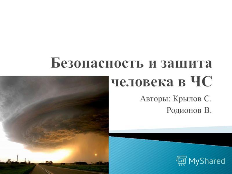 Авторы: Крылов С. Родионов В.