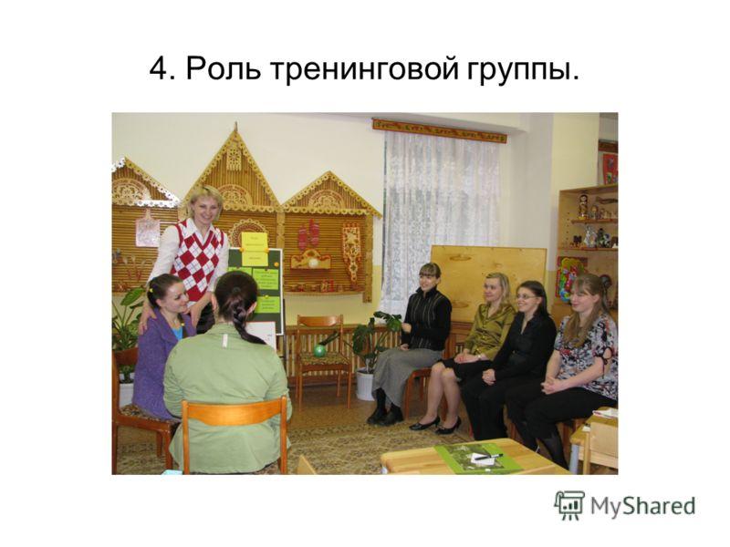 4. Роль тренинговой группы.