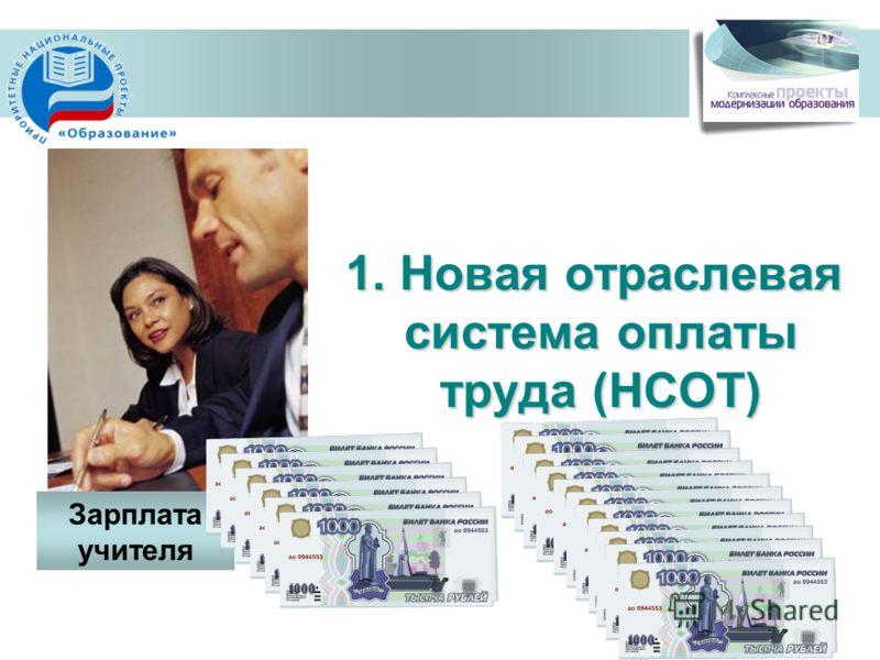 1. Новая отраслевая система оплаты труда (НСОТ) Зарплата учителя