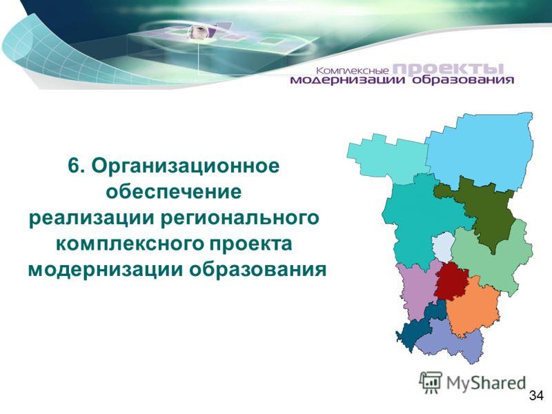 6. Организационное обеспечение реализации регионального комплексного проекта модернизации образования 34