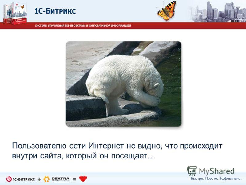 Пользователю сети Интернет не видно, что происходит внутри сайта, который он посещает…