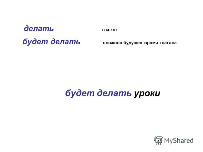 делать глагол будет делать сложное будущее время глагола будет делать уроки