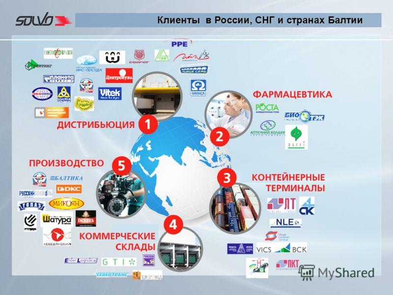 Клиенты в России, СНГ и странах Балтии