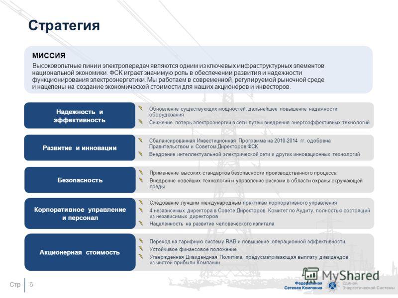 Стр Деятельность ФСК Передача электроэнергииТехнологическое присоединение ФСК – естественная монополия, являющаяся основой электроэнергетического сектора России и оперирующая в 73 регионах страны Основными потребителями являются региональные распреде