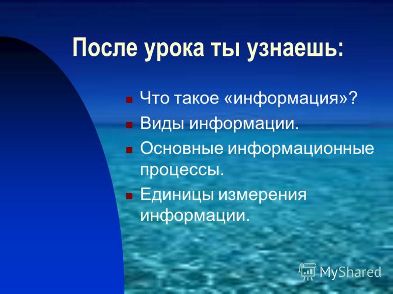 Человек и информация Выполнила Сергеева Г.Н.