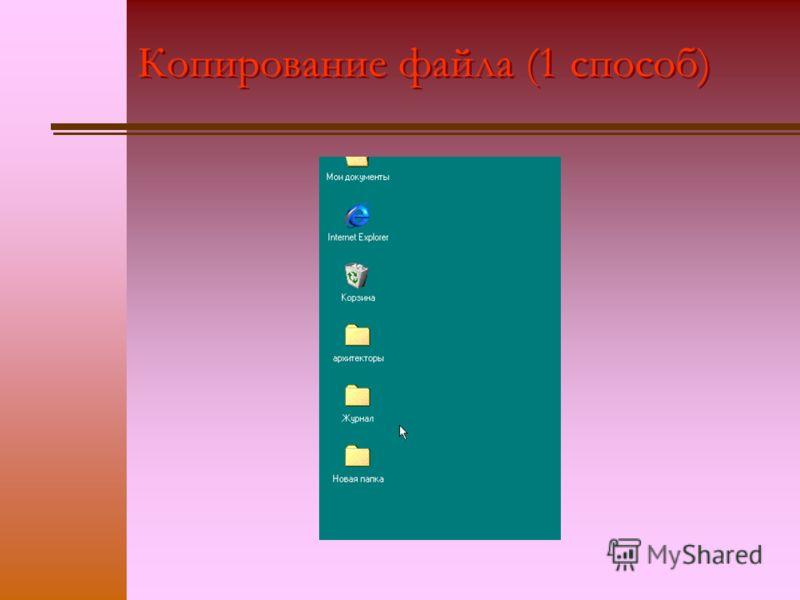 Копирование файла (1 способ)