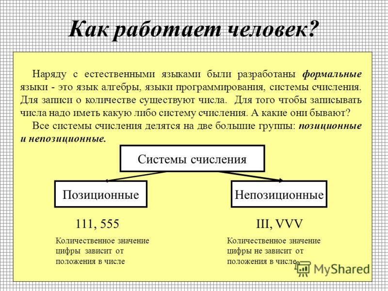 Представление информации Информацию люди научились передавать друг другу различными способами Слова Жесты Мимикой Рисунками Чертежами Музыкой - это все языки общения являются естественными языками.