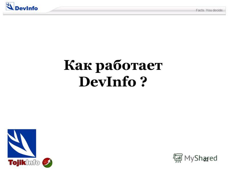 22 Как работает DevInfo ?