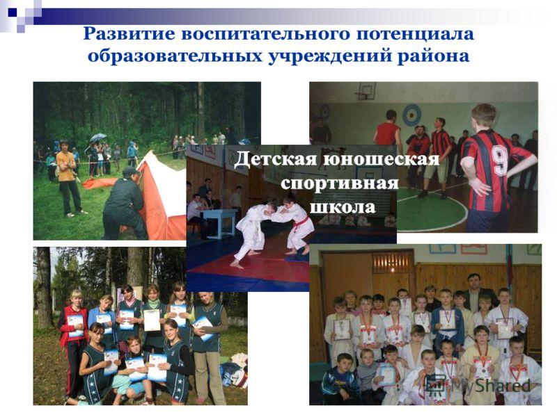 50 Развитие воспитательного потенциала образовательных учреждений района Детская юношеская спортивная школа