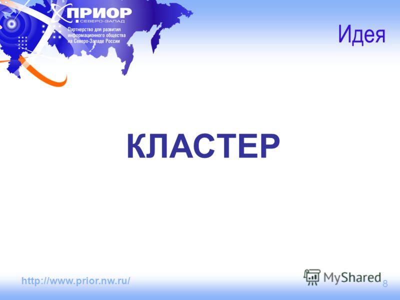 http://www.prior.nw.ru/ 8 Идея КЛАСТЕР