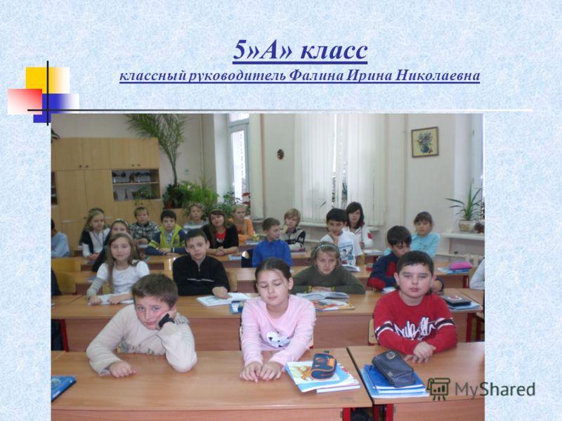5»А» класс классный руководитель Фалина Ирина Николаевна