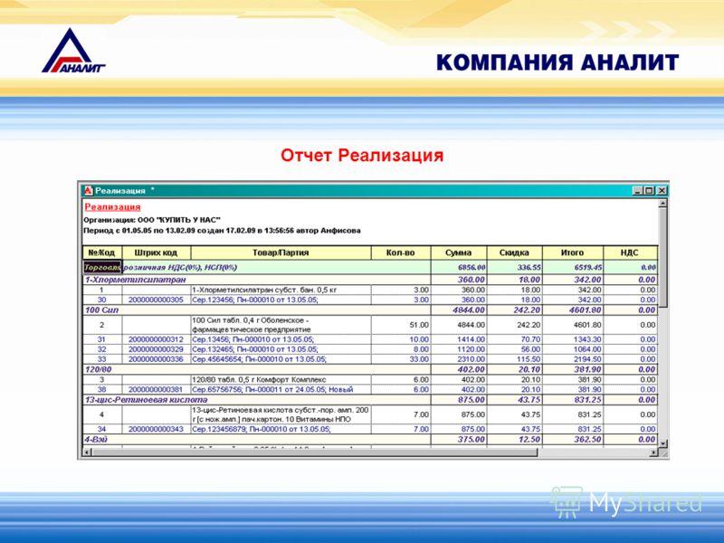 Отчет Реализация