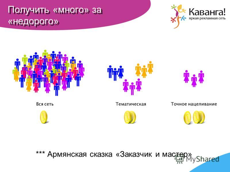 Получить «много» за «недорого» *** Армянская сказка «Заказчик и мастер»