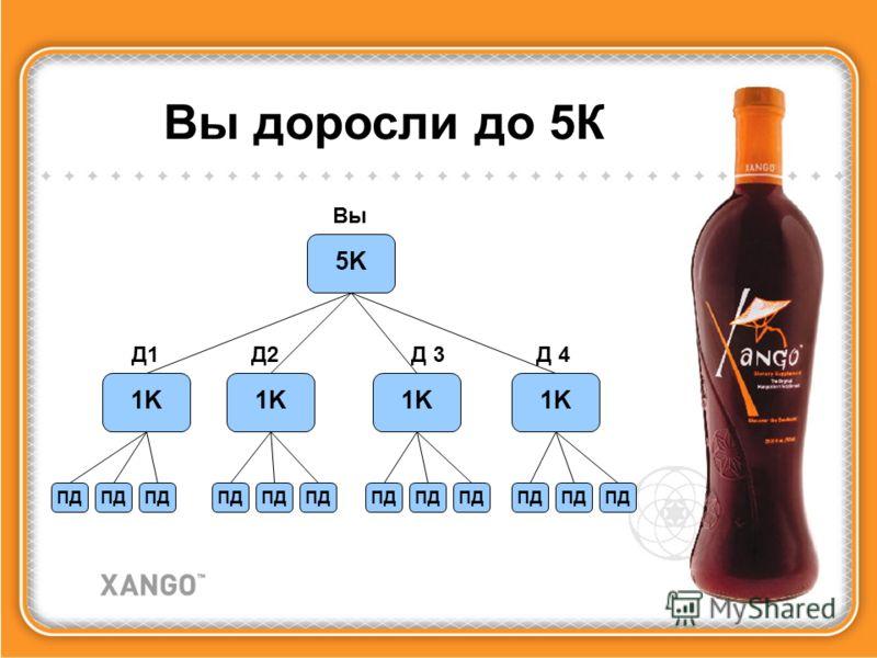 5K Вы 1K Д1Д1Д2Д 3 Д 4 Вы доросли до 5К ПД