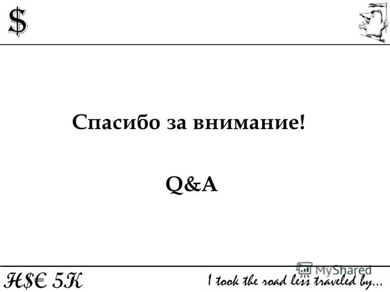 Спасибо за внимание! Q&A