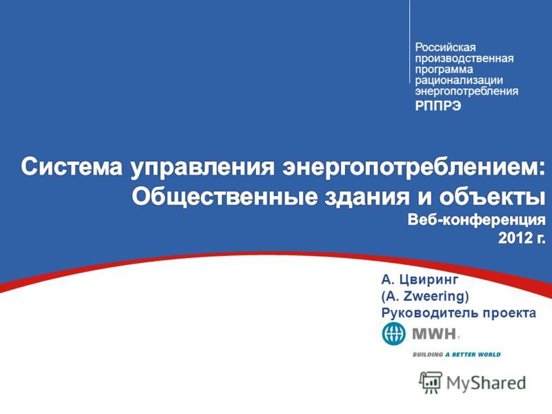 Российская производственная программа рационализации энергопотребления РППРЭ А. Цвиринг (A. Zweering) Руководитель проекта