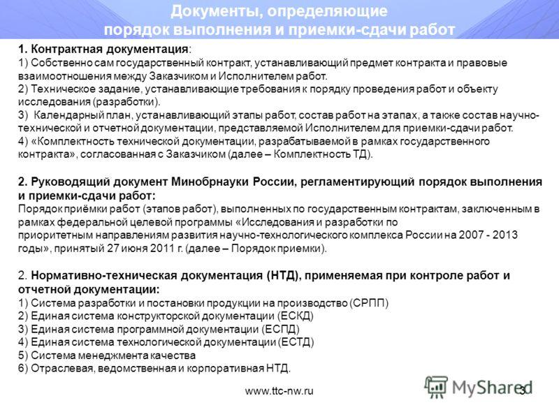 www.ttc-nw.ru2 Вопросы реализации государственных контрактов, выполняемых в рамках Программного мероприятия 2.4 ФЦП