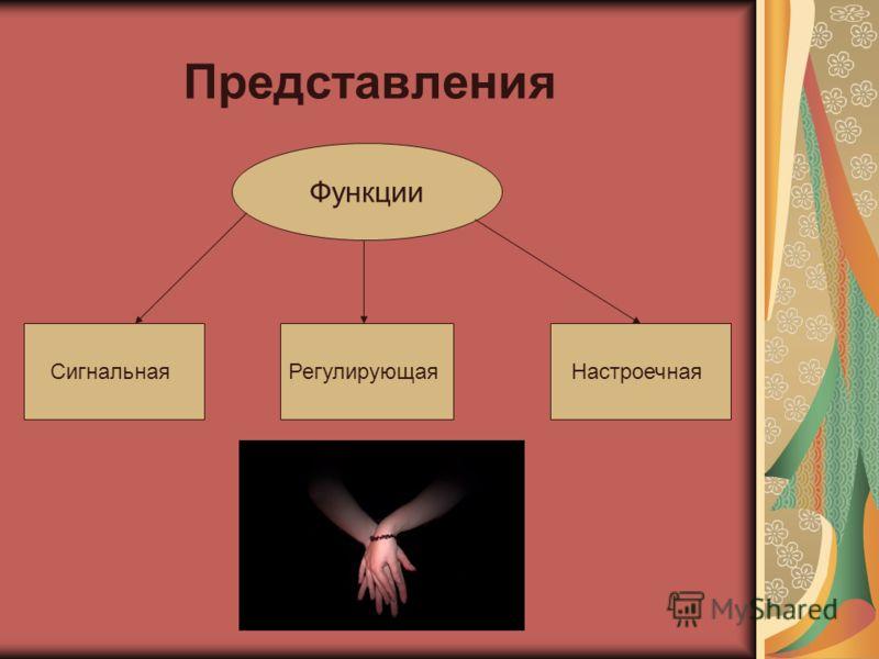 Типы представлений Представления памяти Представления воображения