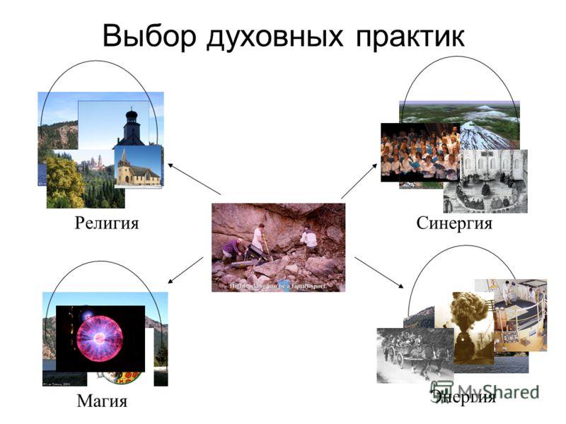 Выбор духовных практик Магия Религия Энергия Синергия