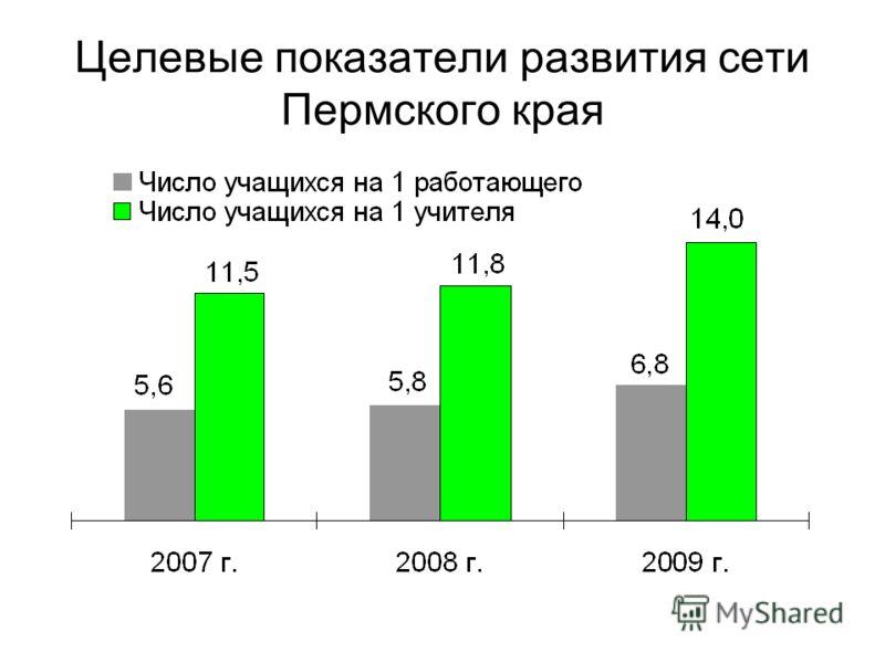 Целевые показатели развития сети Пермского края