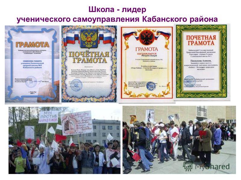 Школа - лидер ученического самоуправления Кабанского района
